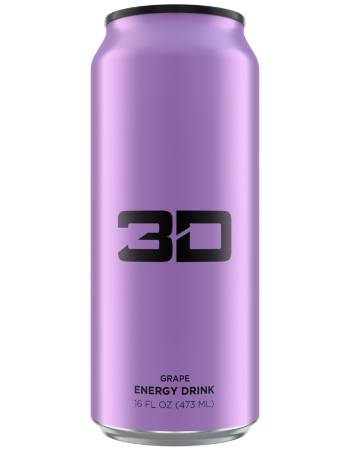 3D ENERGY DRINK GRAPE 473ML