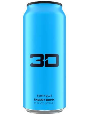 3D ENERGY DRINK BERRY BLUE 473ML