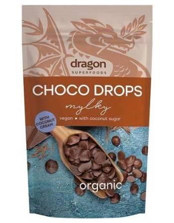 DRAGON SUPERFOODS VEGAN MILK CHOCOLATE DROPS 250G