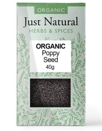 JUST NATURAL POPPY SEED 40G